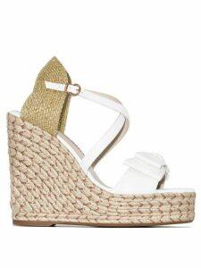 Sophia Webster Bonnie 140 espadrille wedge sandals - White