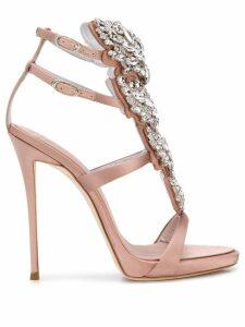 Giuseppe Zanotti embellished high heel sandals - Pink