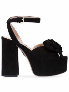 Miu Miu rose embellished sandals - Black