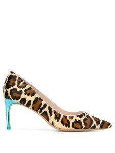 Sophia Webster leopard print pumps - Neutrals