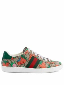 Gucci Women's Ace GG Gucci Strawberry sneaker - Multicolour