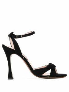 Alexa Chung bow heeled sandals - Black