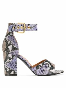 Via Roma 15 snakeskin effect sandals - Purple