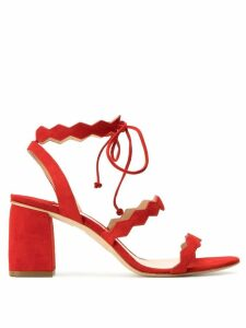 The Seller spike strap slingback sandals - Red