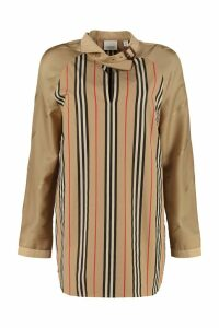 Burberry Striped Cotton Blouse