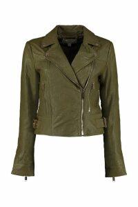 Michael Kors Leather Biker Jacket