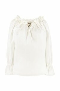 LAutre Chose Ruffled Cotton Popeline Blouse