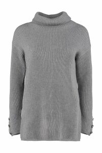 Max Mara Fattore Turtleneck Virgin-wool Pullover