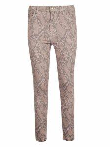 J Brand Snakeskin Print Skinny Jeans