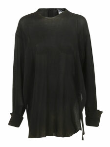 Ann Demeulemeester Fringed Neck Long-sleeved Top