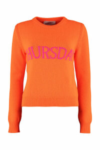 Alberta Ferretti thursday Intarsia Rainbow Week Sweater