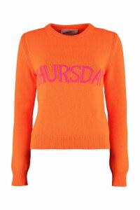 Alberta Ferretti thursday Intarsia Rainbow Week Sweater