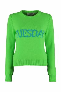 Alberta Ferretti tuesday Intarsia Rainbow Week Sweater