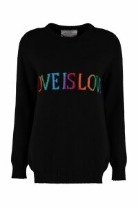 Alberta Ferretti love Is Love Intarsia Sweater