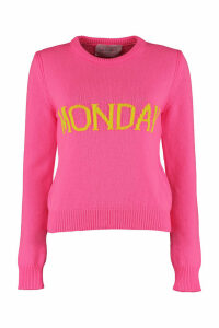 Alberta Ferretti monday Intarsia Rainbow Week Sweater