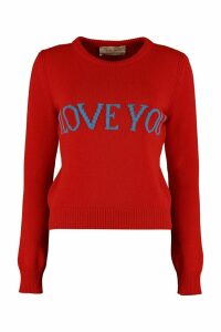 Alberta Ferretti i Love You Intarsia Sweater
