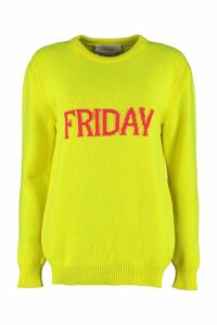 Alberta Ferretti friday Intarsia Rainbow Week Sweater