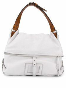 Maison Margiela logo patch large tote bag - White