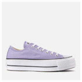 Converse Women's Chuck Taylor All Star Lift Ox Trainers - Washed Lilac/Black/White - UK 7 - Purple