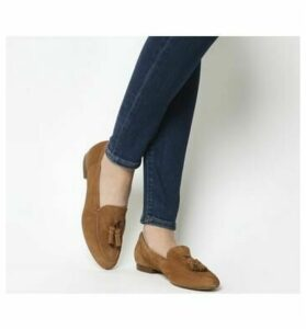 Office Retro Tassel Loafer TAN SUEDE