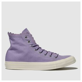 Converse Lilac All Star Hi Frilly Thrills Trainers