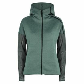 Adidas Training Sage Green Jersey And Mesh Sweatshirt