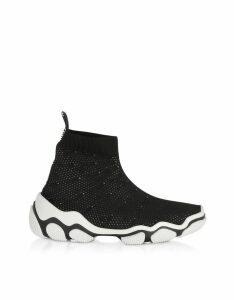 RED Valentino Designer Shoes, Black Glam Run Sneakers
