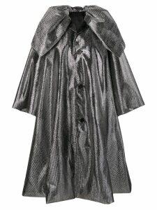 Comme Des Garçons Noir Kei Ninomiya metallic oversized coat - Silver