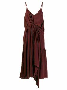 Christian Wijnants Dev ruched slip dress - Red