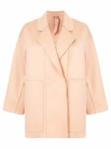 Nº21 panelled cocoon coat - Pink