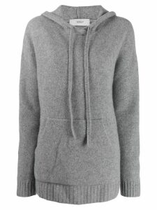 Pringle of Scotland Oversized Soft Hoodie - Grey