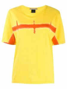 Suzusan horizon print T-shirt - Yellow