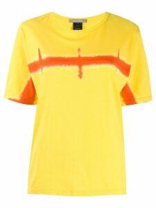 Suzusan horizon print T-shirt - Yellow