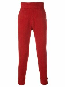The Elder Statesman cashmere joggin trousers - Red