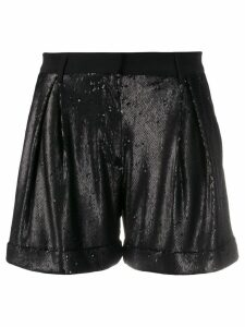 L'Autre Chose high rise short shorts - Black