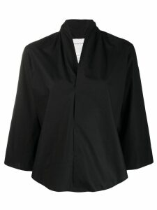 Stephan Schneider Distortion V-neck blouse - Black