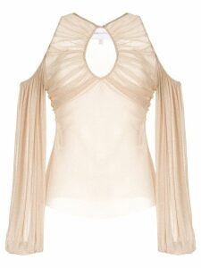Alice McCall Spell cold-shoulder blouse - NEUTRALS