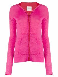 Fine Edge layered knitted hoodie - PINK