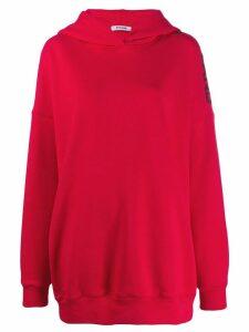 Styland logo sleeve print hoodie - Red