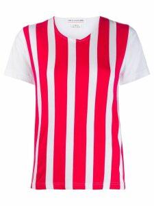 Comme Des Garçons Girl striped T-shirt - White