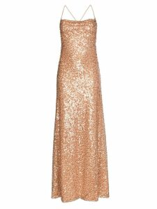 Galvan Whiteley sequin embellished gown - NEUTRALS