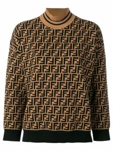 Fendi FF logo turtle-neck sweater - Neutrals