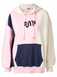 SJYP colour block hoodie - Pink