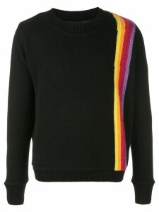 The Elder Statesman cashmere Rainbow Sash sweater - Black