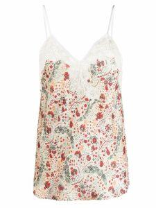 Paco Rabanne floral camisole - Neutrals