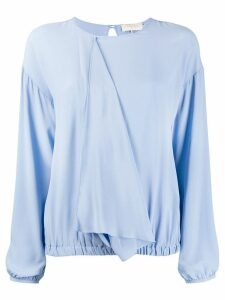 L'Autre Chose draped front blouse - Blue