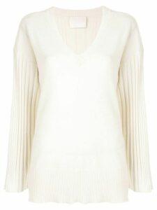 Dion Lee corrugated pleat jumper - White