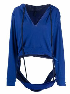 Unravel Project cut-out hoodie - Blue