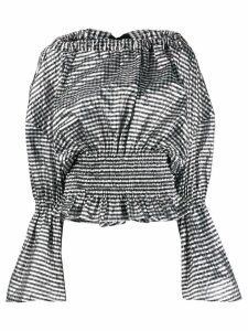 Comme Des Garçons Noir Kei Ninomiya structural checked ruched blouse -