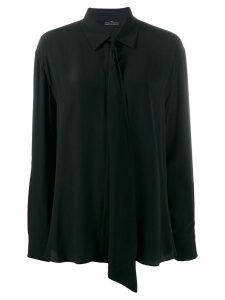 Rokh tie neck shirt - Black